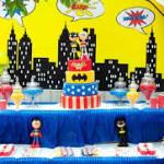 festa infantil -tema super heróis